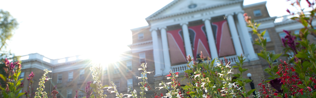 Bascom Hall in full bloom