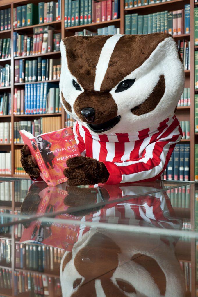 Bucky reading