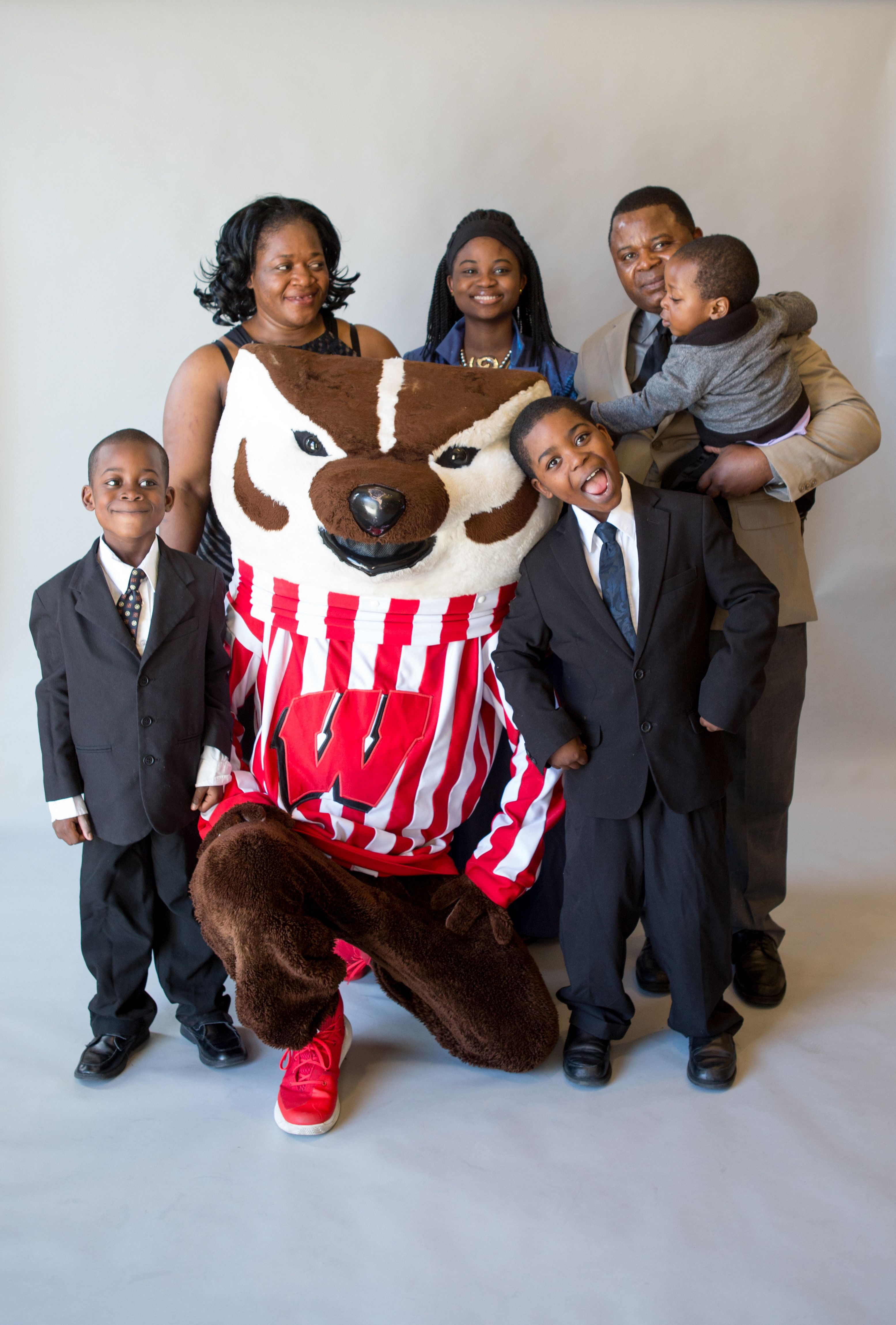 angeline mboutngam and family with bucky