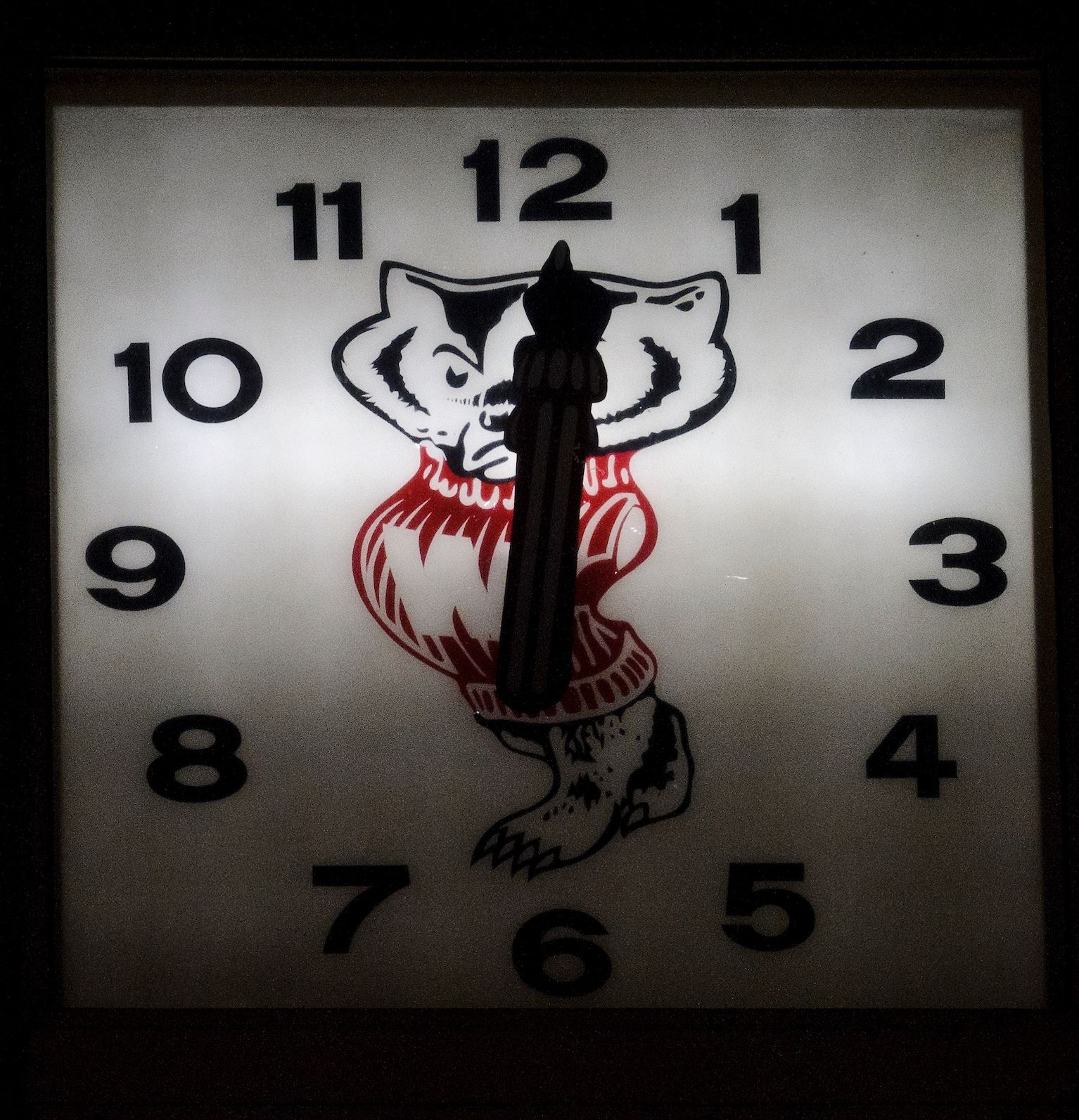 Bucky Badger clock