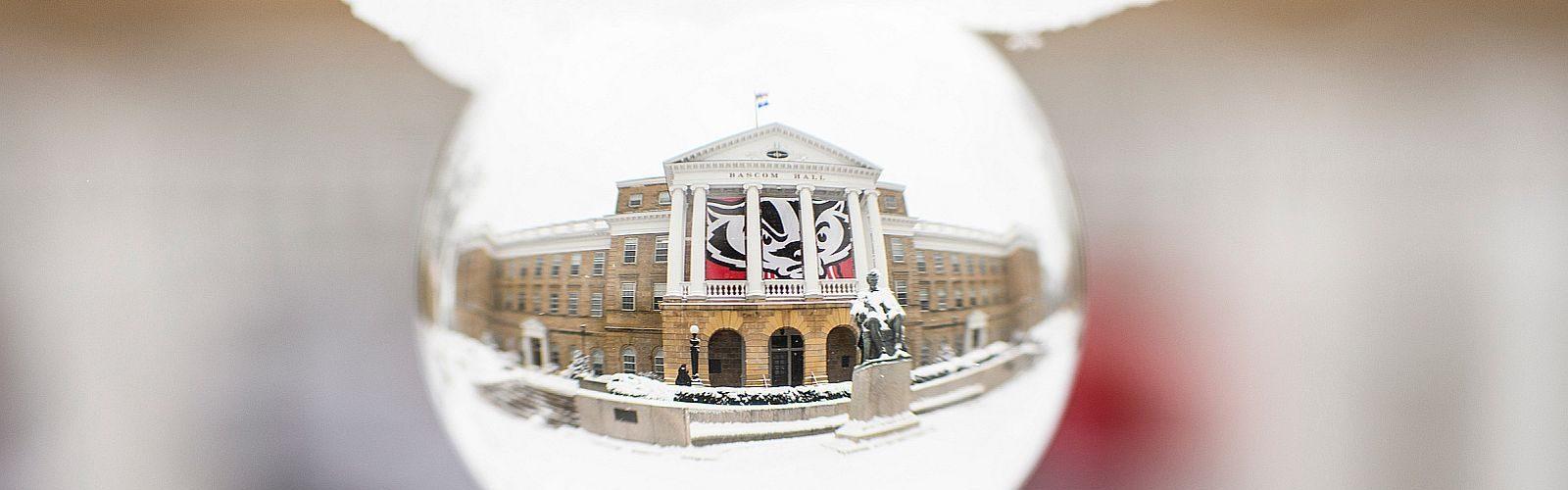 Bascom hall in winter