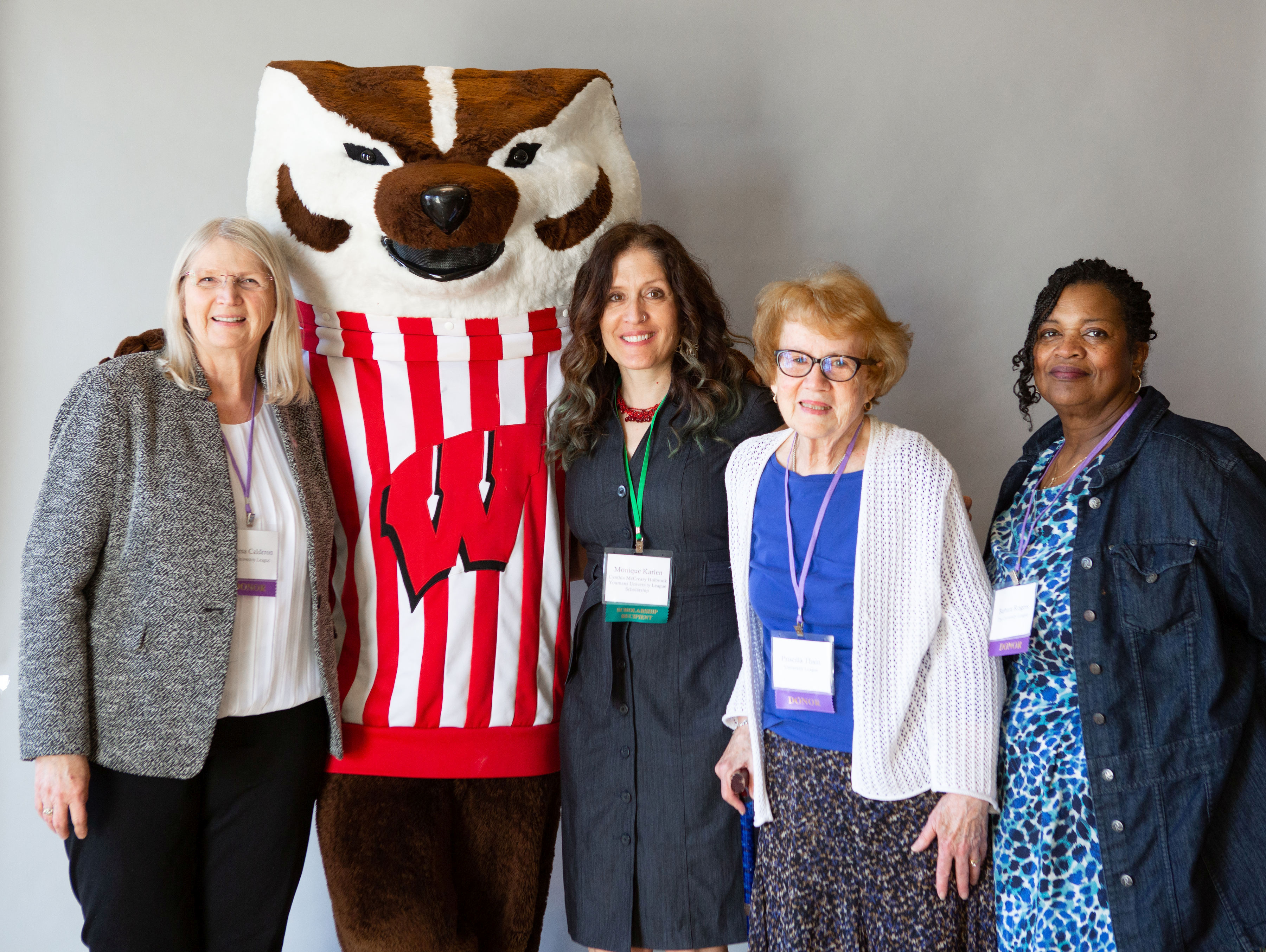 monique karlen and youmans university league donors with bucky